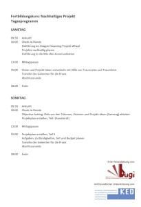 Fortbildungskurs BUGI - Tagesprogramm